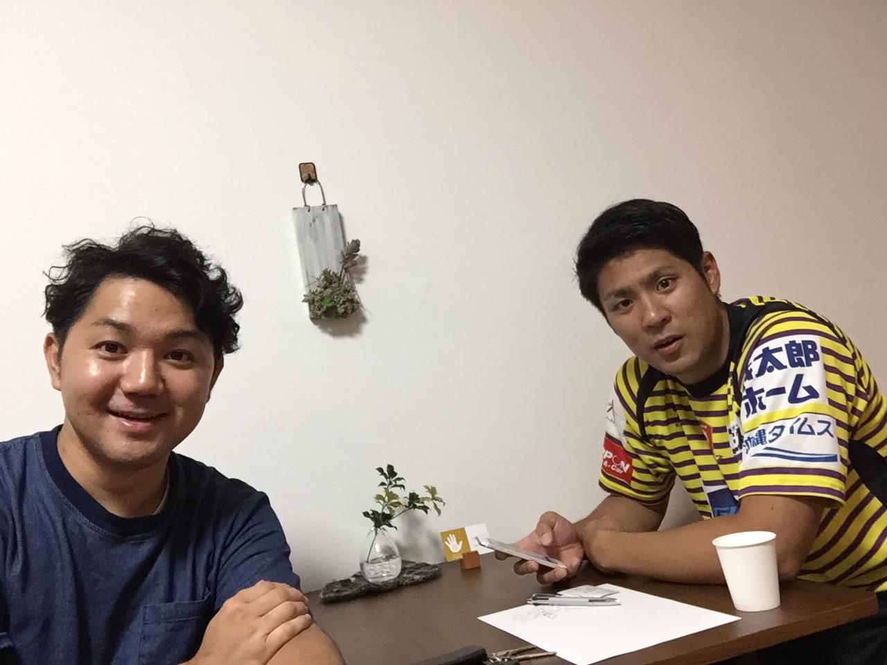 琉球コラソン・村山選手とフィジカルサポート契約