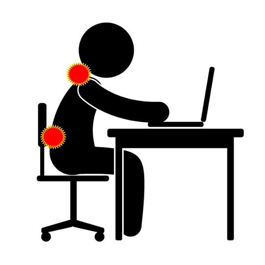 デスクワーク腰痛・肩こりの理由!「動かないこと」って動く以上に負担が大きい!